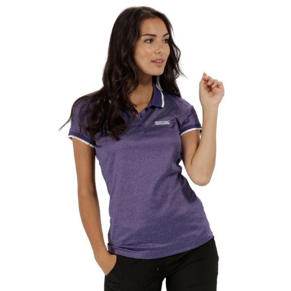 Regatta WOMEN'S REMEX POLYESTER POLO SHIRT - Elderberry Marl